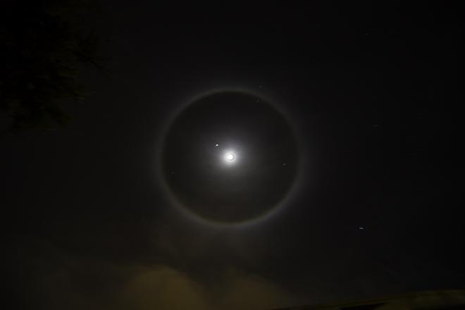 22° Mond-Halo am 29. März 2015 in Tucson, AZ Foto: Christine Lisse