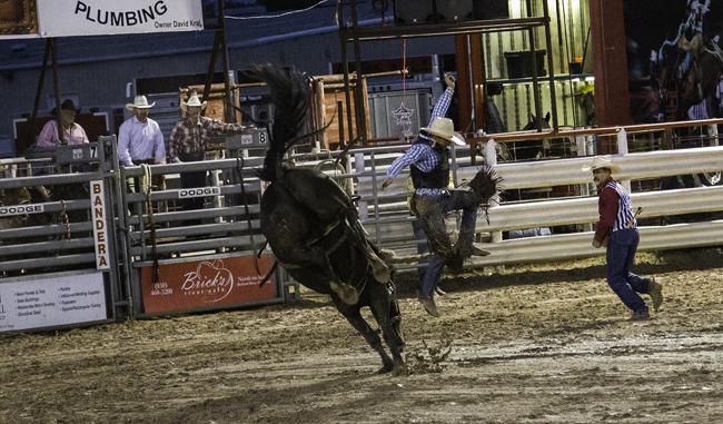 Cowboy neben Pferd 650px
