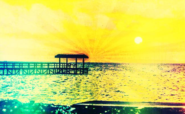 6 Sonne in hellgelb mit Struktur