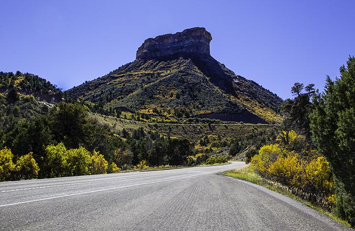 Mesa Verde NP Berg am Eingang