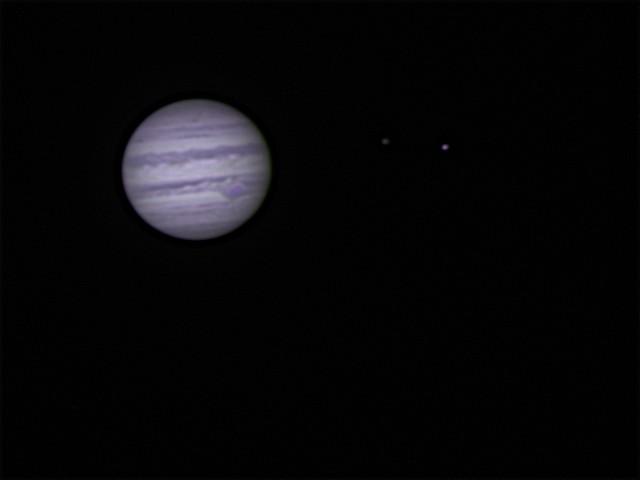 Jupiter mit Mond