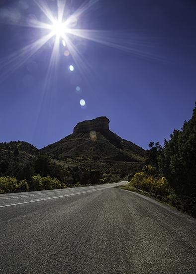 Eingang zum  Mesa Verde National Park Colorado USA