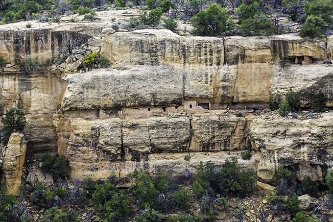 Wohnungen der Anazasi im Mesa Verde National Park Colorado USA