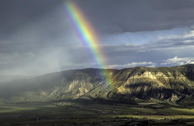 Rainbow  Mesa Verde National Park Colorado USA